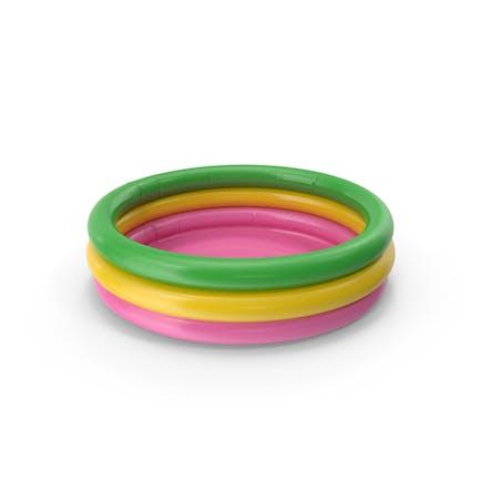 Aufblasbares Schwimmbad Regenbogen farbig