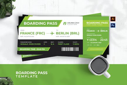 Ailines Admit Boarding Pass