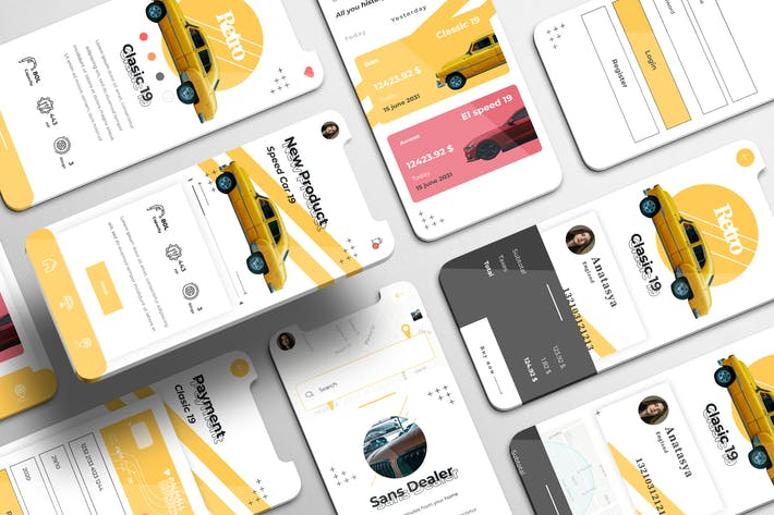 Thumbnail for Automoto UI Kit - Cars Dealers Apps
