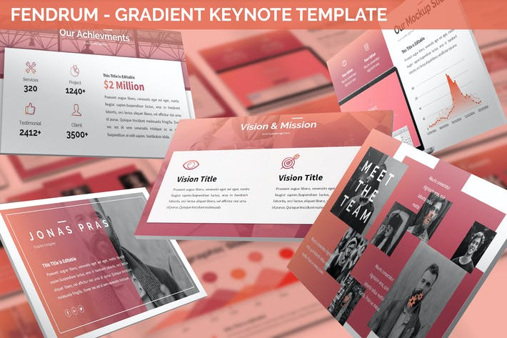Cover Image For Fendrum - Gradient Keynote Template