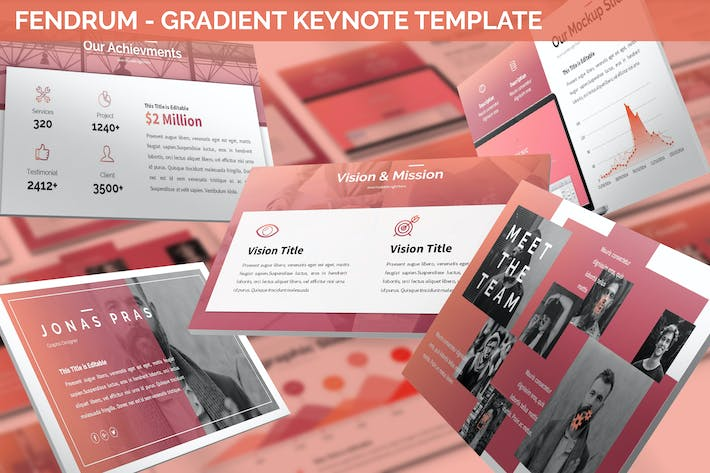 Thumbnail for Fendrum - Gradient Keynote Template