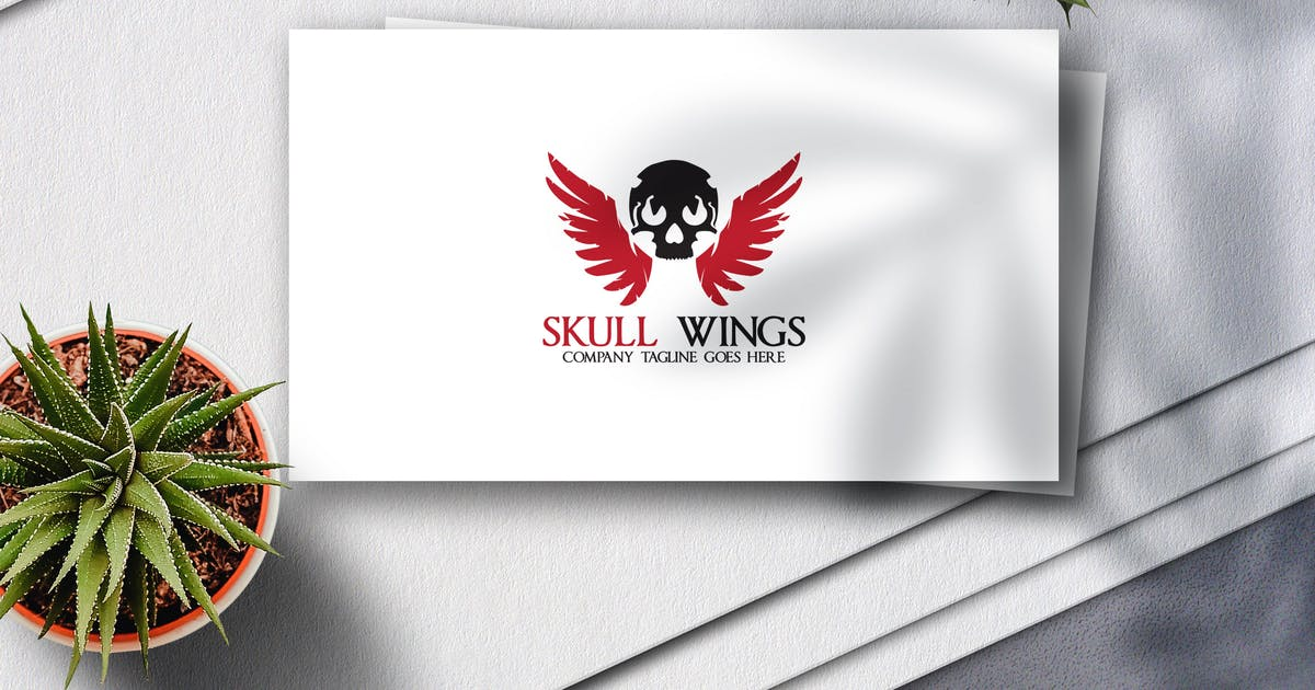 Download Skull Wings Logo by Voltury
