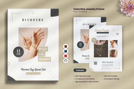 Valentine Jewellery Promo Flyer