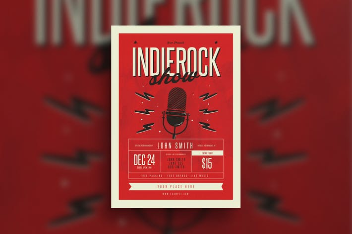 Thumbnail for Indierock Event flyer