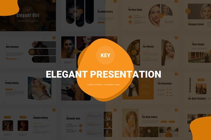 Elegant Girl - Keynote Template
