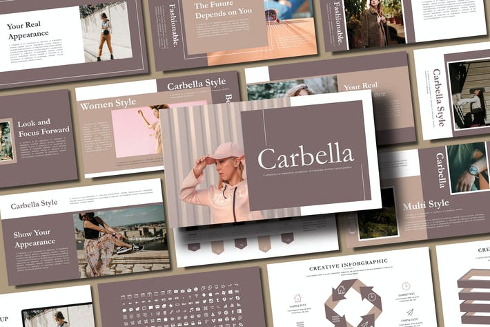 Thumbnail for CARBELLA - Fashion Powerpoint Template