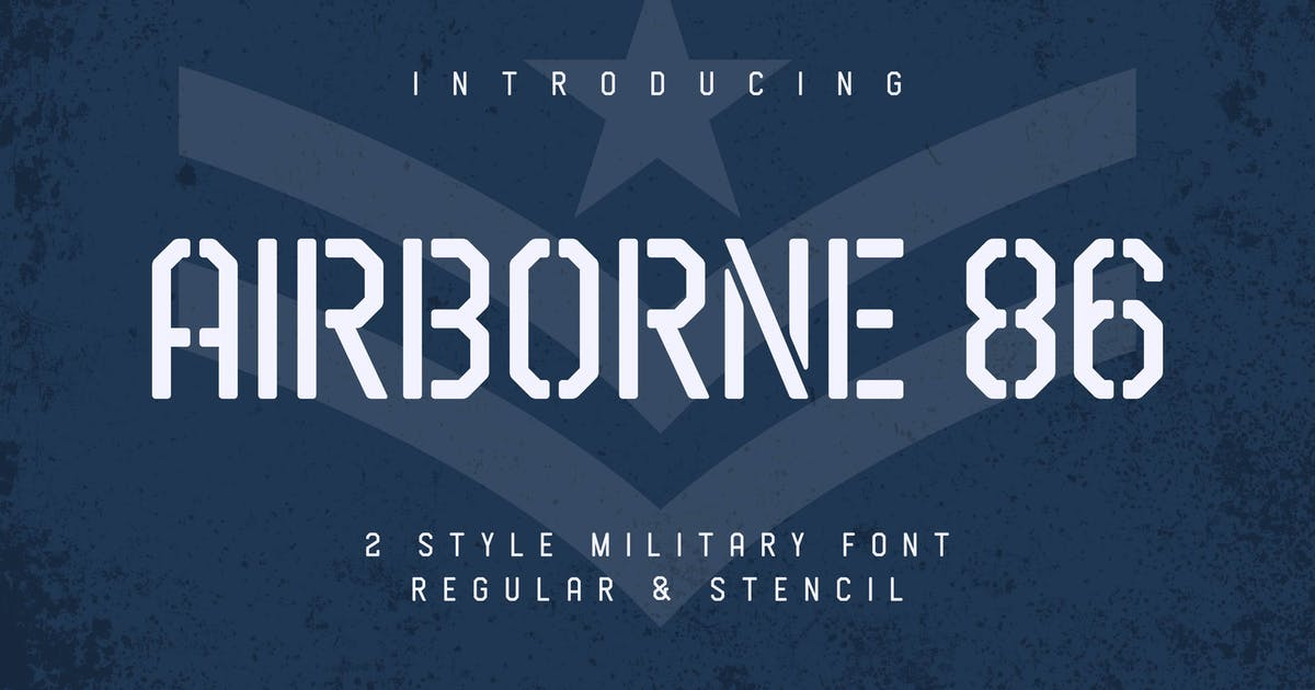 Download Airborne 86 - Military Font by Alterzone