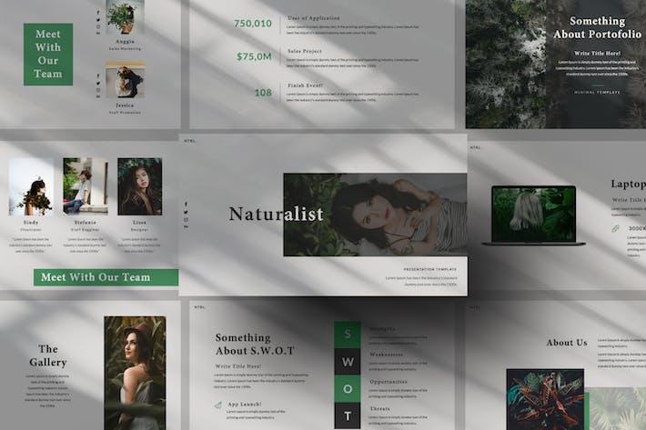 Thumbnail for Naturalist Creative Google Slide