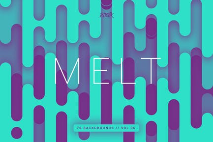 Melt   Abstract Rounded Backgrounds   Vol. 06