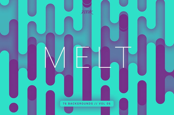 Cover Image For Melt | Abstract Rounded Backgrounds | Vol. 06