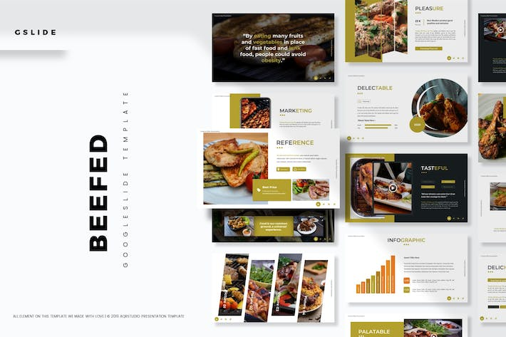 Thumbnail for Beefed - Google Slides Template