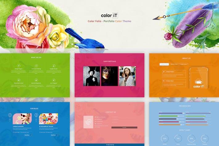 Thumbnail for Color Folio - Portfolio Color Theme