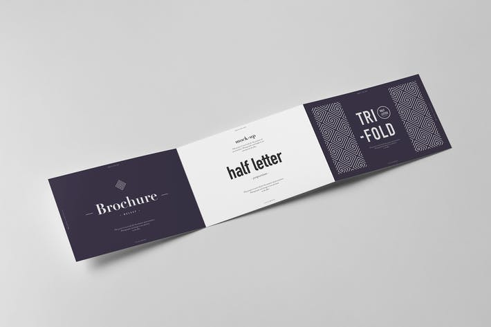 Thumbnail for Tri-Fold Half Letter Horizontal Brochure Mock-up