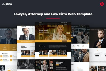 Justica - Lawyer and Attorney Website Template