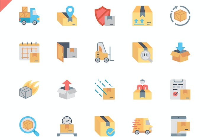 Thumbnail for Simple Set Shipping Flat Icons