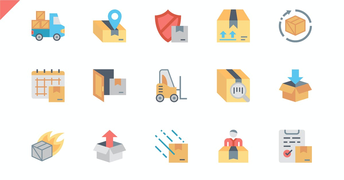 Download Simple Set Shipping Flat Icons by alexdndz