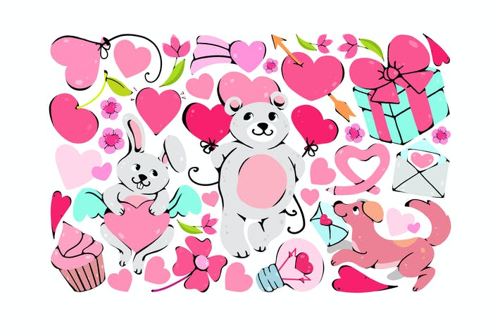 Thumbnail for Cute Valentine Clipart