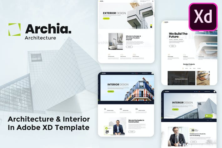 Thumbnail for Archia - Architecture & Interior Adobe XD template