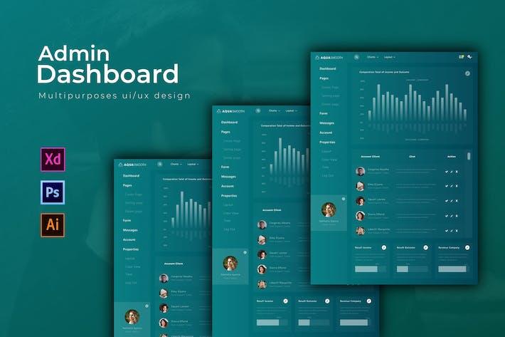 Thumbnail for Aquasmooth Dashboard | Admin Template