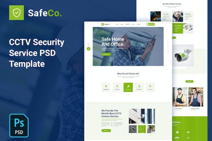SafeCo - CCTV Security Service Agency PSD Template