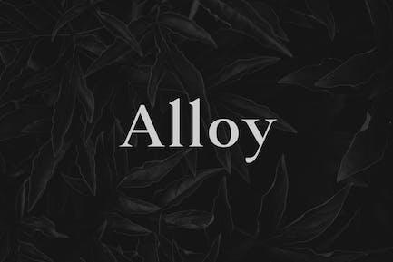 Alloy - A Sharp Serif Typeface