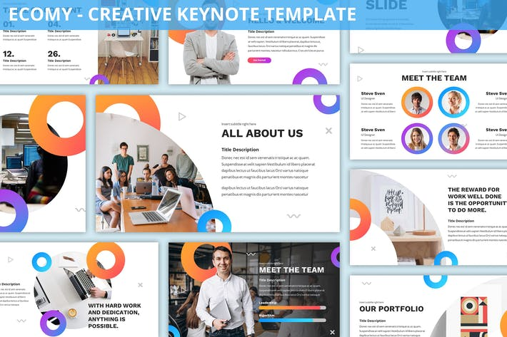 Cover Image For Ecomy - Creative Keynote Template