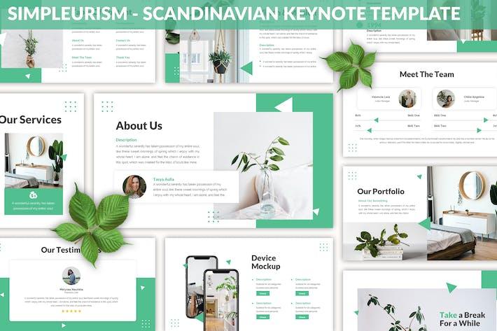 Thumbnail for Simpleurism - Scandinavian Keynote Template