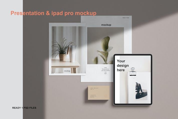 Презентация и ipad pro макет