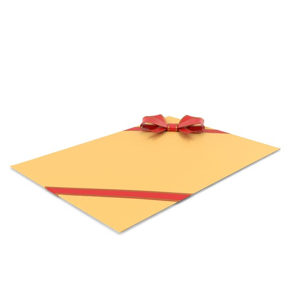 Envelope With Bow And Ribbon