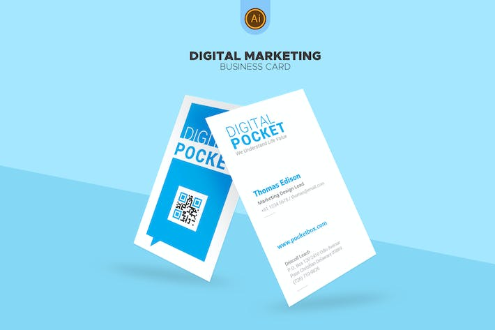 Thumbnail for Digital Marketing Business Card 05