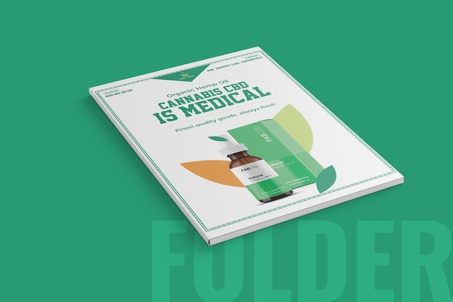 Cannabis Presentation Folder & Envelope Template