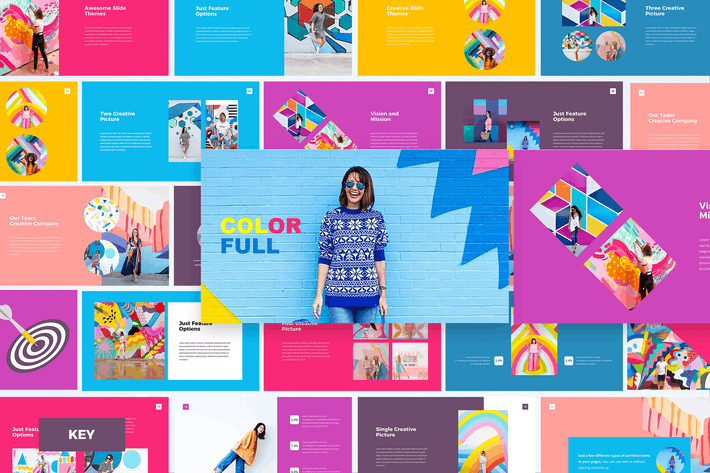 Thumbnail for Colorful - Keynote Template