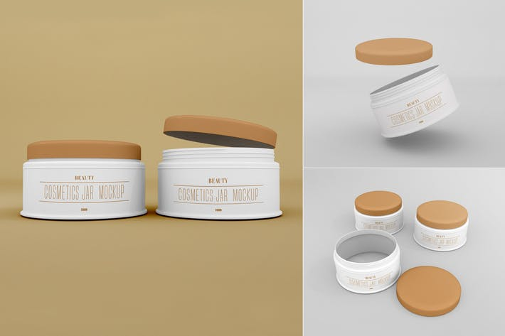Cosmetic Jar Mockup - Vol 03
