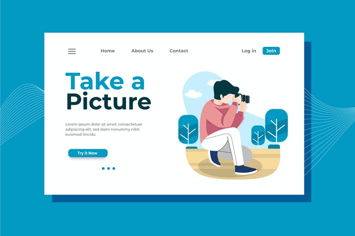 Thumbnail for Take a Picture Landing Page Illustration