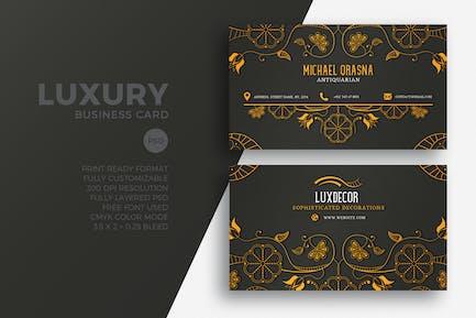Carte de visite de luxe