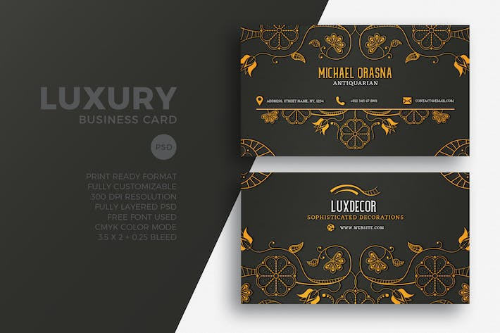 Download 6671 business card templates envato elements thumbnail for luxury business card wajeb Images