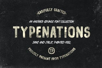 Type Nation Duo Grunge & Pintado
