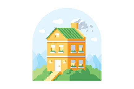 House on the hill illustration