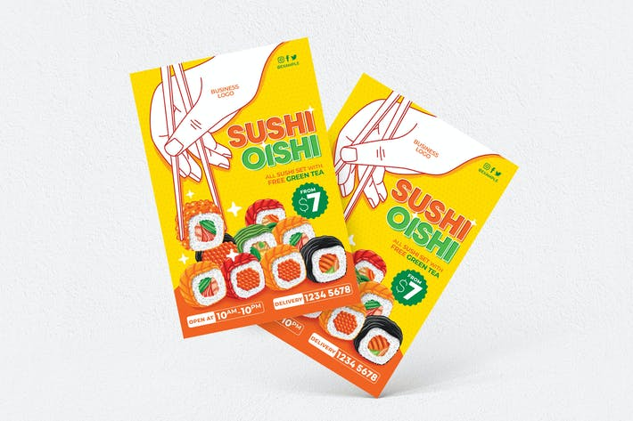 Thumbnail for Sushi Oishi Flyer