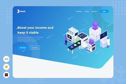 Maintain Your Asset -  Website Header Illustration