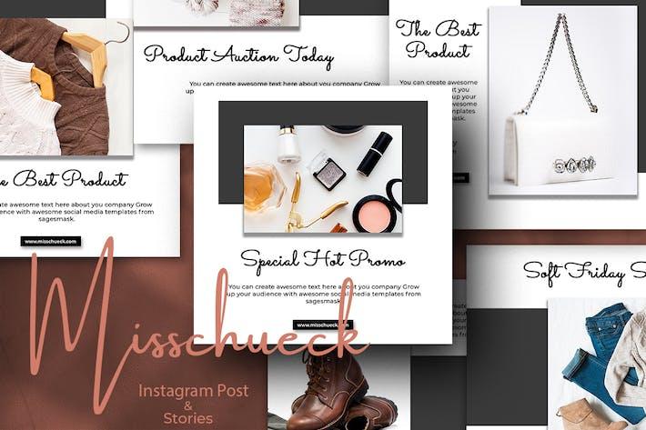 Misschueck Instagram Post and Stories
