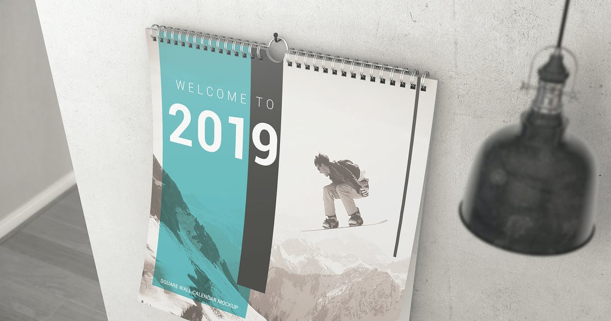 Download Square Wall Calendar Mockups by StreetD