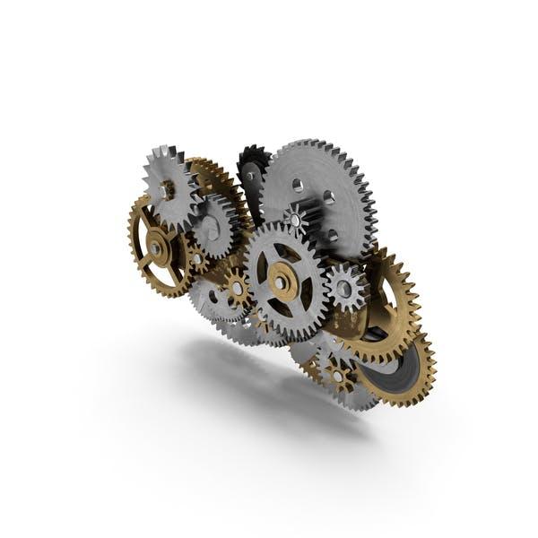Clockwork Gear Mechanism Mixed