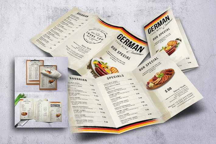 Thumbnail for German Cuisine Food Menu Bundle
