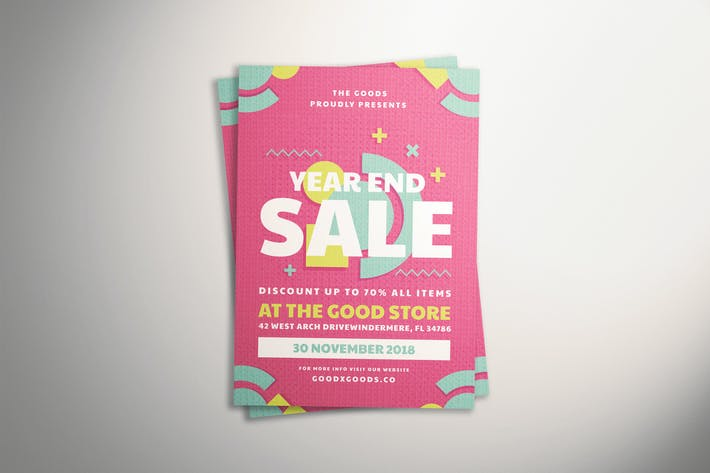 Thumbnail for Geometric Sale Flyer
