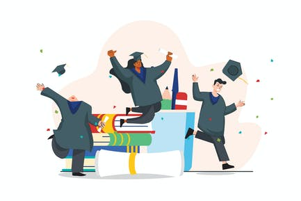 Illustration zum Abschluss des Studiums