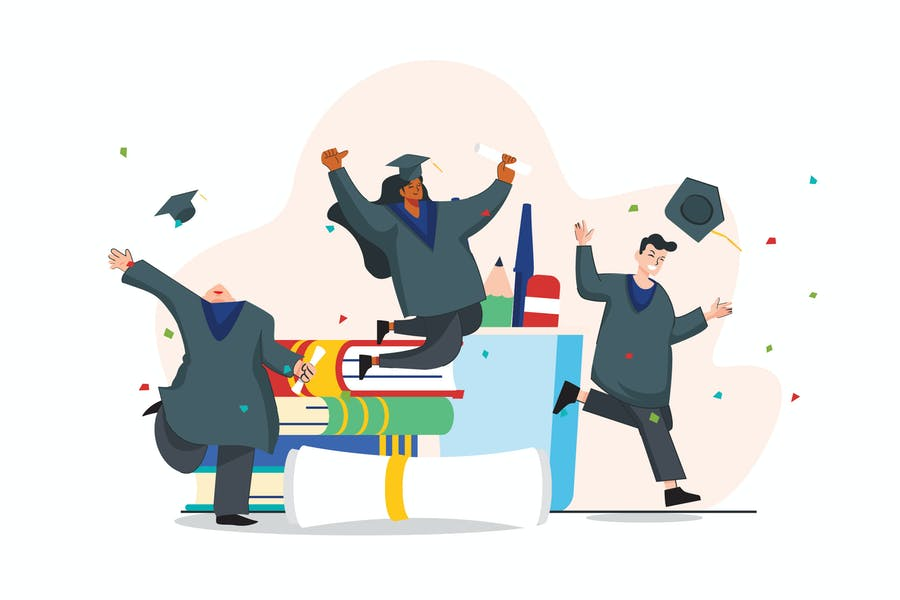 Student Graduation Illustration