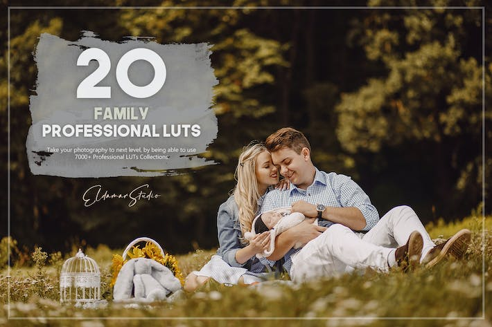 Thumbnail for 20 Family LUTs Pack