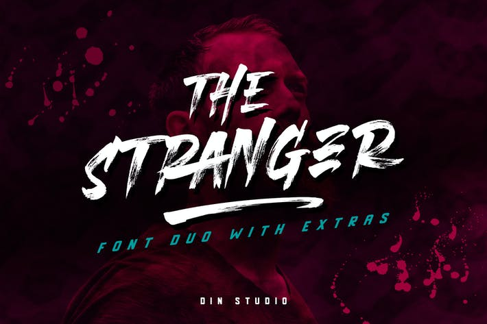 Thumbnail for Stranger Font Duo + Extras