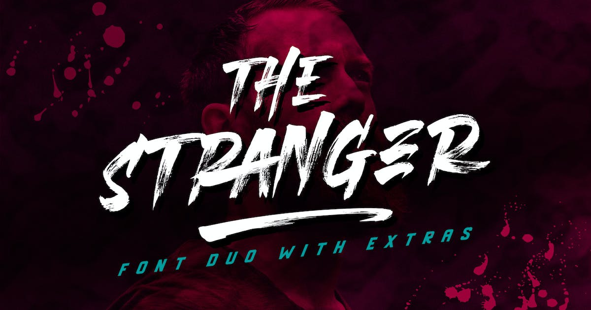 Download Stranger Font Duo + Extras by Din-Studio